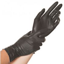 "HYGOSTAR Latex-Handschuh ""DIABLO"", M, schwarz, puderfrei"