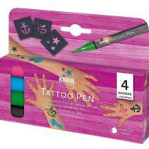 "KREUL Tattoo Pen, 4er-Set ""Anker, Sterne, Schmetterling"""
