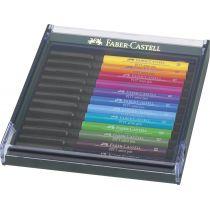 FABER-CASTELL Tuschestift PITT artist pen, 12er Etui Basic