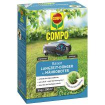 COMPO Rasenlangzeitdünger Mähroboter, 5 kg für 200 qm