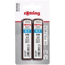 rotring Druckbleistift-Minen Tikky 0,7 mm, Härtegrad: HB