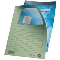 LEITZ Sichtmappe, DIN A4, Karton, mit Sichtfenster, hellblau