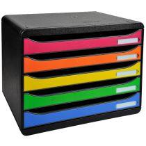 EXACOMPTA Schubladenbox BIG-BOX PLUS, 5 Schübe, harlekin