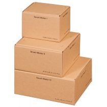 "SMARTBOXPRO Paket-Versandkarton ""Smart Mailer"", mittel,braun"