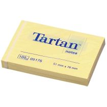 Tartan Notes Haftnotizen, 76 x 76 mm, hellgelb