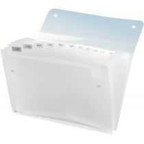 Rexel Fächermappe ICE, DIN A4, 6 Fächer, PP, farbig sortiert