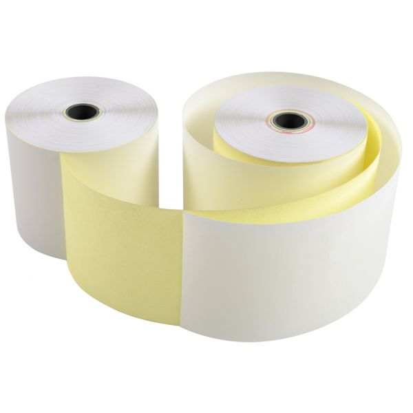 EXACOMPTA Kassenrollen, 76 mm x 25 m x 12 mm, weiß gelb ...