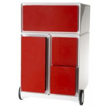"""PAPERFLOW Rollcontainer """"easyBox"""", 1 Schub, weiß rot"""