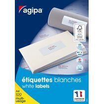 agipa Universal-Etiketten, 105,0 x 74,0 mm, mit Abzieh-Hilfe