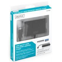 DIGITUS USB 3.1 Multiportadapter, USB-C - USB-C HDMI
