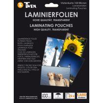 TWEN Laminierfolientasche für Visitenkarten, 60 x 90 mm