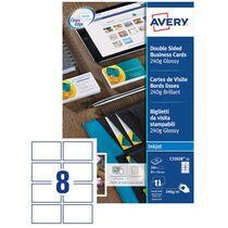 AVERY Cartes de visite Quick&Clean, 260 g m2, blanc mat