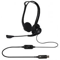 Logitech PC Headset 960 USB, schwarz, USB-Anschluss