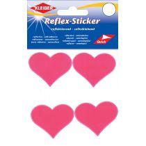 """KLEIBER Reflex-Sticker """"Herzen"""", neonpink"""