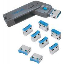 LogiLink USB Sicherheitsschloss, 1 Schlüssel 8 Schlösser